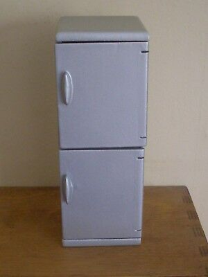 Dollshouse Miniature ~ SILVER ~ FRIDGE FREEZER