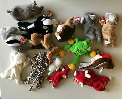 af6356031af BEANIE BABY LOT - 12 Forest Beanie Babies and 2 Teenie Beanie  Mint ...