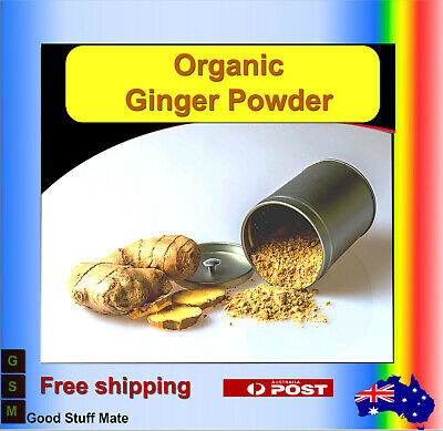 AU Seller ORGANIC PURE Ginger Ground Premium Quality - FAST FREE SHIPPING