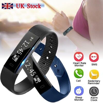 Smart Bluetooth Fitness Activity Track Watch Sleep Bracelet Wristband Fit Bits