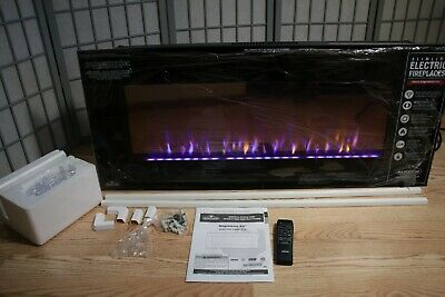 Napoleon Azure 42 Inch Electric Fireplace Linear On Wall Mount