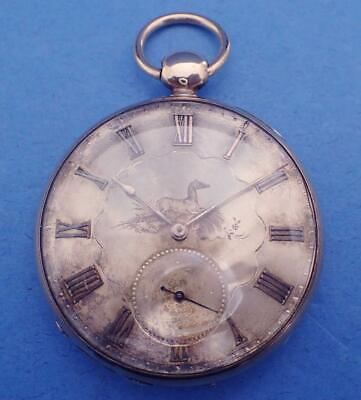 Antique Tobias 52.8Mm Keywind Gold Filled Pocket Watch Running For Restoration