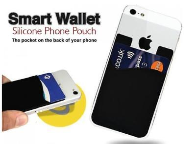 Silicone Smart Phone Wallet Credit Card Holder Stick-On Wallet Smart Silicone Ce