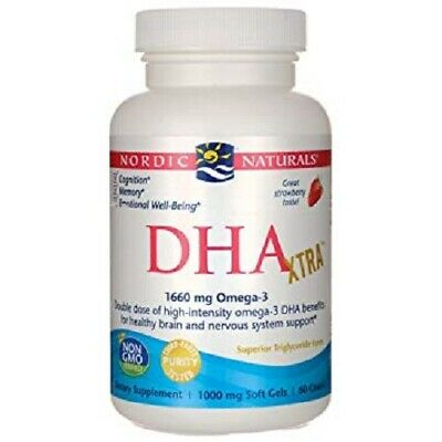 Nordic Naturals DHA Xtra - Potent Healthy Brain and Nervous System Support 60 Ct
