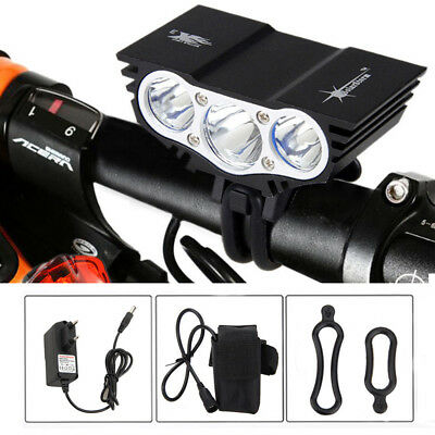 20000LM T6 X3/X2 LED Bicycle Headlight Waterproof Bike Rear Lamp Battery Pack