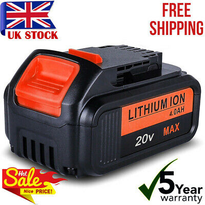 For DEWALT DCB182 18V 4.0Ah XR Li-Ion Battery DCB184 DCD785 DCF885 DCB200 DCB203