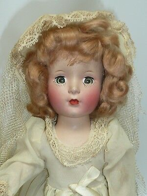 1950's All Original Hard Plastic Bride by Roberta Niresk w/Box, As Found