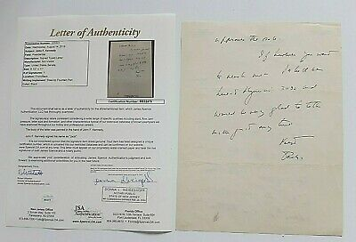 John F Kennedy Hand Written 2 Page Letter Signed Best Jack  With 2 Coa's Senate