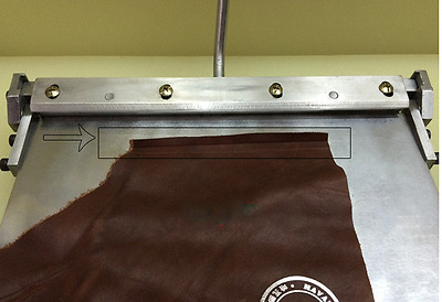 New 300mm Manual Leather Folding Machine For Leather PU Sheet Leather Creasing