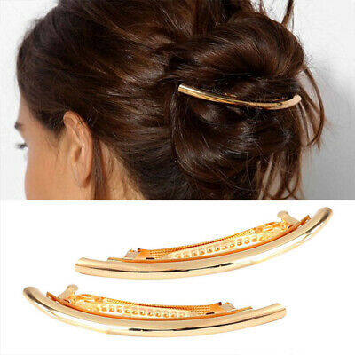 Fashion Women Metal Hair Clips Sliver Gold Hairpins Hair Clamps Pins Accessories