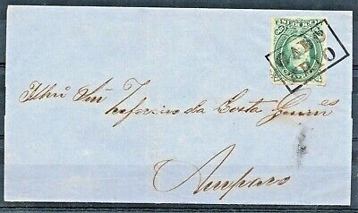 BRAZIL cover with a Dom Pedro RHM-41 from Cabo Frio (box cancel) to Amparo.