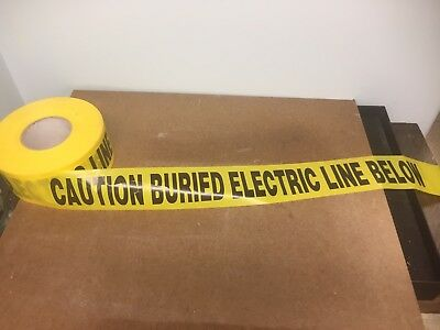 Underground Buried Electric Cable Caution Tape