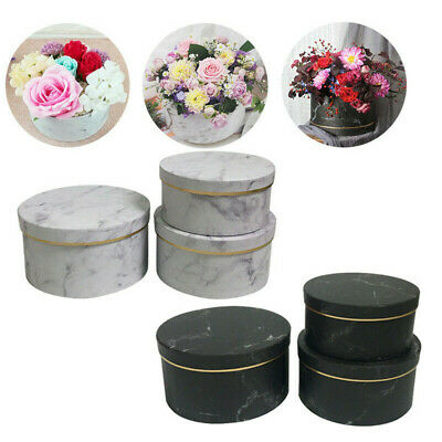 Florist Hat Boxes set of 3 Christmas Flowers Gifts Living Vase