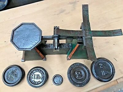 """"""" Vic Brand"""" Vintage Cst Iron Scales,With Weights,"""