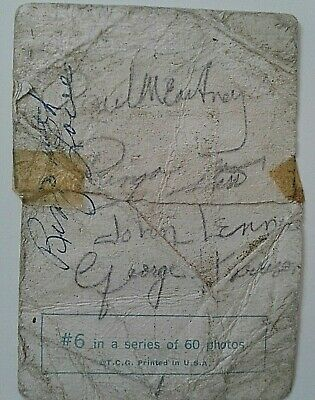 Beatles Signed  #6 1St Generation Card In 1964  By All 4 & Twice By Ringo 2 Coa