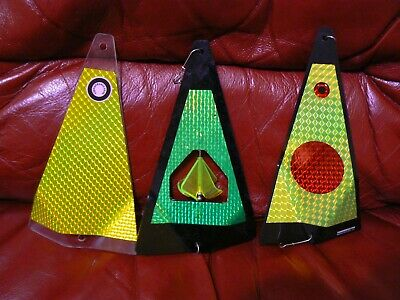 """SHORTBUS 8/"""" TRIANGLE FLASHER Die Cuts 2 PK SPECIALTY FISHING LURE TAPE 8 Styles"""