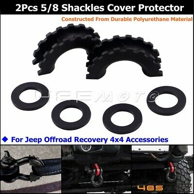 5//8 D-Ring Shackle Isolator Anti Rattle Protector Towing Part For Truck Jeep SUV