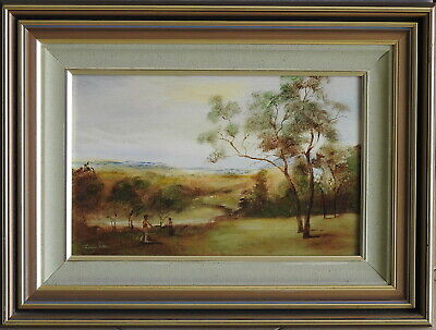 Norman Robins (1914-88) Original Oil Painting Rendez-Vous in the Countryside