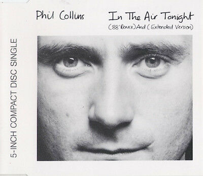 Phil Collins In The Air Tonight (88' Remix) CD Single WEA Made in Germany