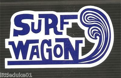 SURF WAGON Vinyl Sticker Decal Longboard Surfing Surfboard Rat Fink VW Ford SURF