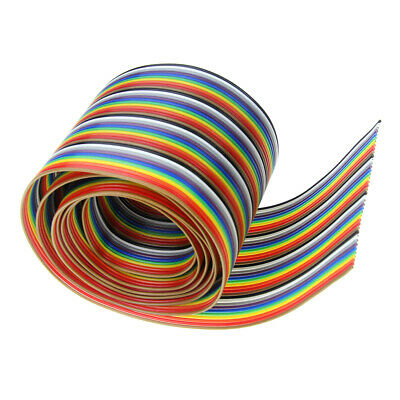 1-10M 40Way 40 Pin Flat Colorful Ribbon Cable Wire Rainbow Cable Dupont Cuttable