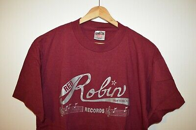 Vintage Red Robin Records Nyc New York City Mens T Shirt Large - Us-beer-map-red-robin