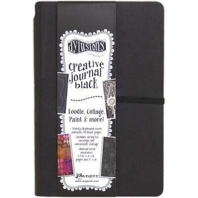 Dylusions Creative Art Journal - Small 5x8 - Black Mixed Media Paper