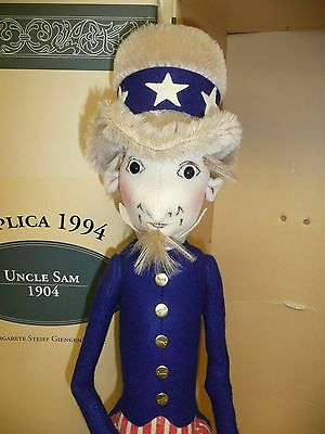 Great Steiff Filz Puppe Uncle Sam MIB W / Coa Le #343/1000