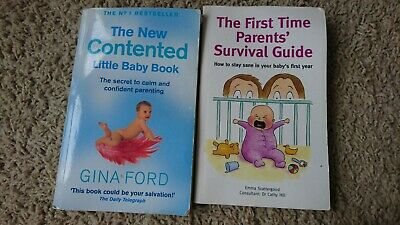 The Contented Little Baby Book by Gina Ford + 1st time parent survival guide