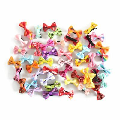 1X(Hairpin Baby Boutique Hair Bows With Clips for Girls Baby 50Pcs L7G2)