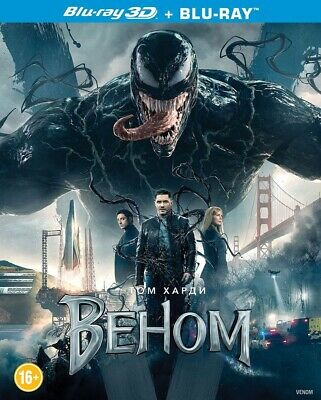 Venom (Blu-ray 3D+2D, 2019) English,Russian,French,Italian,Ukranian