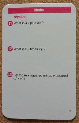 Brand NEW Revision GCSE Geniass Maths cards: AQA OCR EdExcel compatible