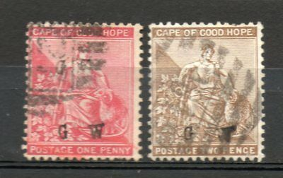 CAPE OF GOOD HOPE overprinted GW used, probably imitations