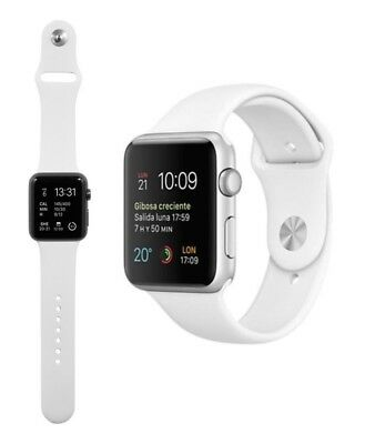 Para Apple Watch 44mm Serie 4 Recambio Correa reloj silicona Blanca