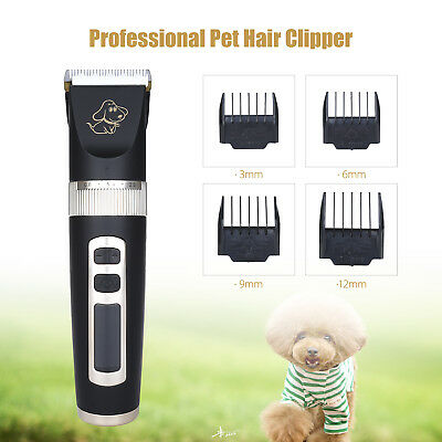 Electric Mute Pet Cat Dog Hair Grooming Clipper Cordless Shaver Universal FAST