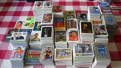 Superbe Lot 7557 Vignettes Stickers Panini Sans Doubles Football Prix Extra