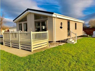 Luxury Lodge 2Bed Lodge For Sale With Full Wrapper Round Decking North Wales