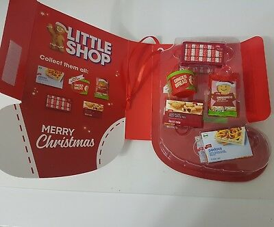 Coles Little Shop Mini Collectables Christmas Edition Collector's Full Set +case