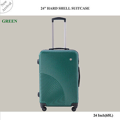 24 inch 65L Medium size Luggage Trolley Travel Bag 4 Wheels TSA lock hard case