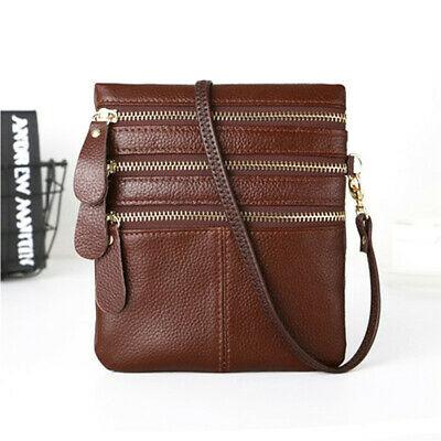 Women Trendy Multi Pocket Zipper Design Wallet Shoulder Bag Handbag Messenger ON