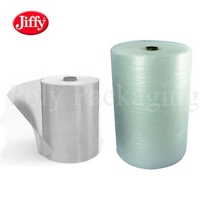 JIFFY BRANDED SMALL Bubble Wrap 500mm and 750mm Wide Rolls Premium Straight Tear