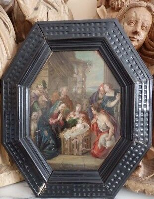 Oil painting. Oil on copper. Flemish school. 17th century.