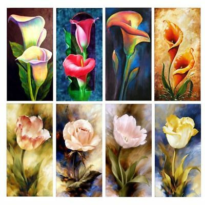 Full Diamond 5D Flower Painting Embroidery DIY Cross Stitch Crafts Home Decor