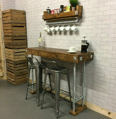 Breakfast Bar Wood Kitchen Table  Bistro Cafe Table  Restaurant Table  Pub Table
