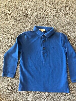 Boys Burberry Long Sleeved Polo Age 5 Years