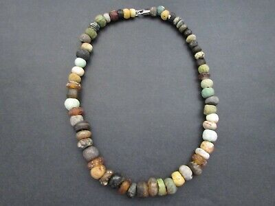 NILE  Ancient Egyptian Amulet Mummy Bead Necklace ca 100 BC
