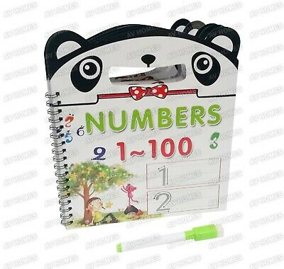 123 Numbers First Learning Learn Book Pre School Wipe Clean Clear Handle Pen