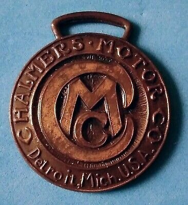 Old vintage Chalmers Motor Company Detroit advertising watch FOB Whitehead Hoag