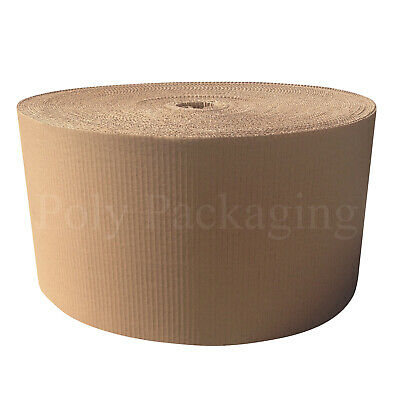 300mm x 75m (1 Roll) CORRUGATED CARDBOARD PAPER ROLLS Postal Packaging Parcels