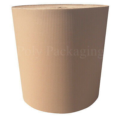 450mm x 25m CORRUGATED CARDBOARD PAPER ROLLS Postal Packaging Wrapping Parcels